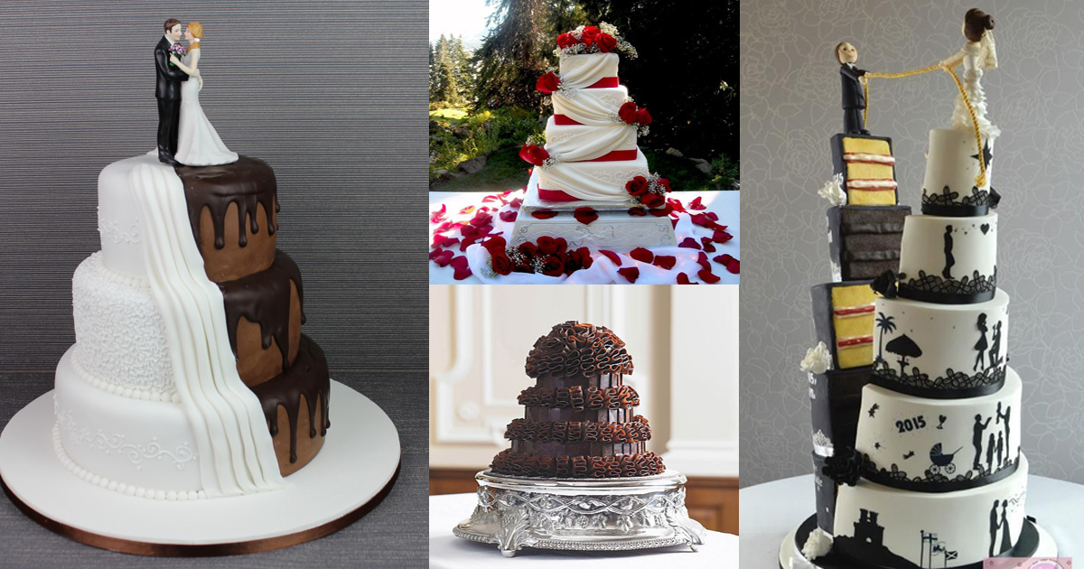 11 Wedding Cakes Divided By His And Her Tastes - Ivanka Wedding Cake