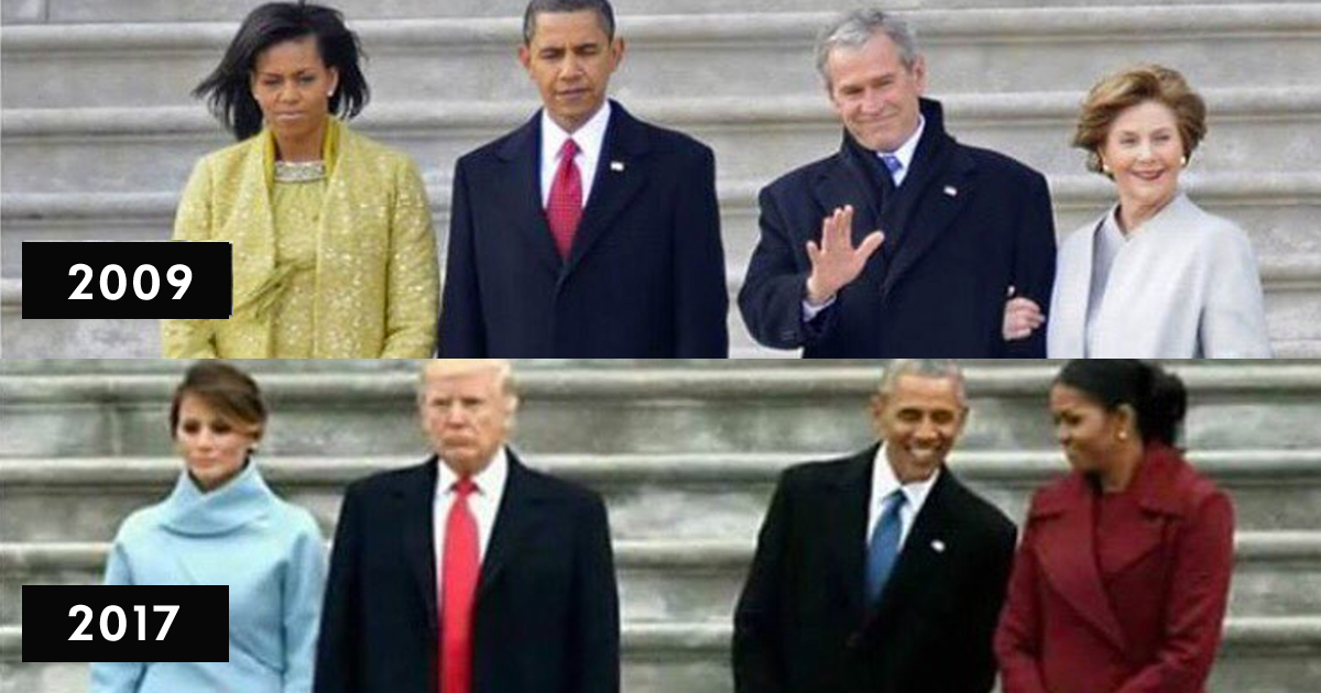 Photo Shows The Striking Similarities Between Incoming And Outgoing Presidents