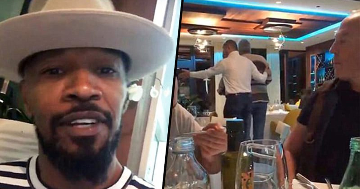 Two Men In A Croatian Restaurant Hurl Racist Slurs At Jamie Foxx And He Catches It On Film