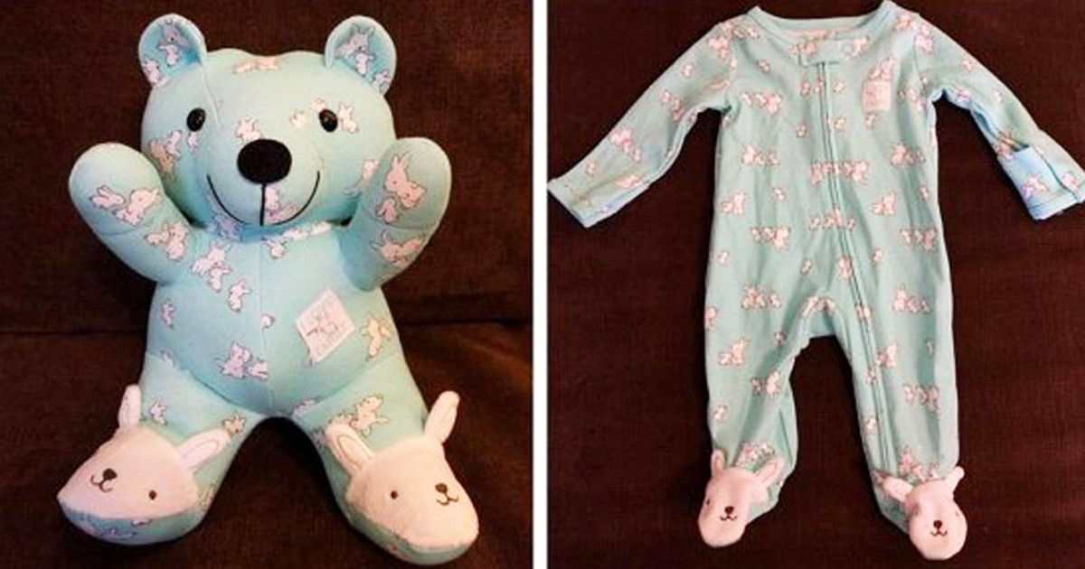 Turn Your Baby's Old Onesies Into Adorable Keepsake Bears With This DIY Tutorial