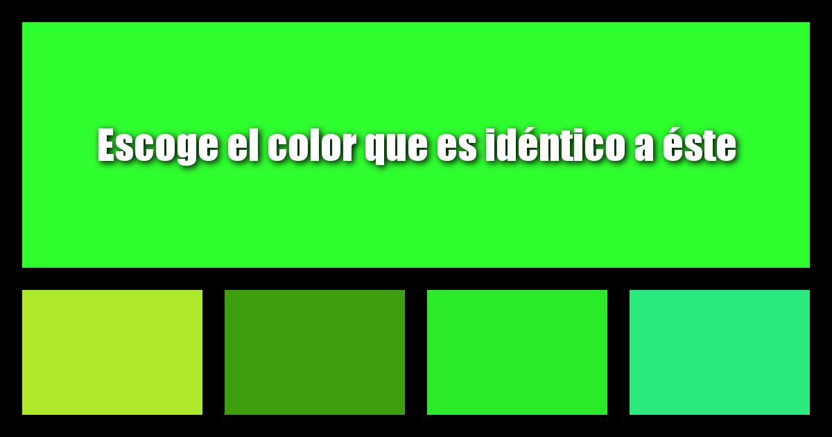 ¿Cómo De Bien Puedes Diferenciar Los Colores?